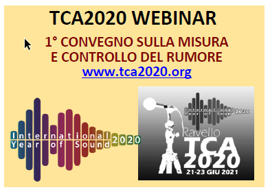 webinar TCA2020 ravello rumore